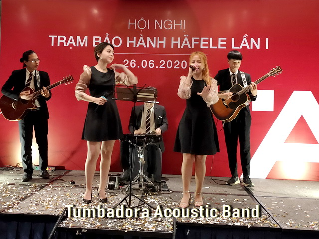 Tumbadora Acoustic Band Hafele Gala Dinner 001