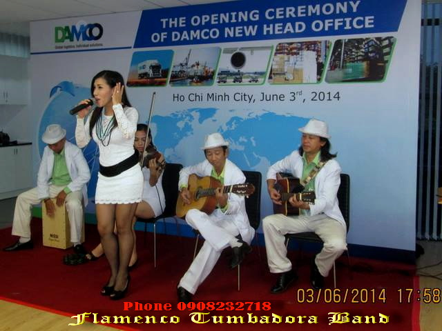 Acoustic Tumbadora Band 03 06 2014 Khai Truong Damco New Head Office