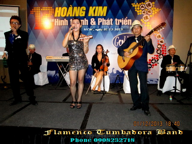 Ban Nhac Flamenco Tumbadora 01 12 2013 12th Gonden Vet Anniversary New World Hotel