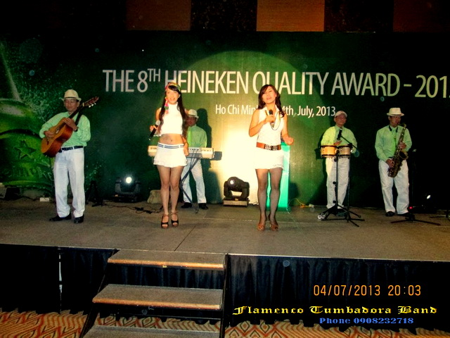 Ban Nhac Flamenco Tumbadora 04 07 2013 The 8th Heineken Quality Award Inter Continental Hotel
