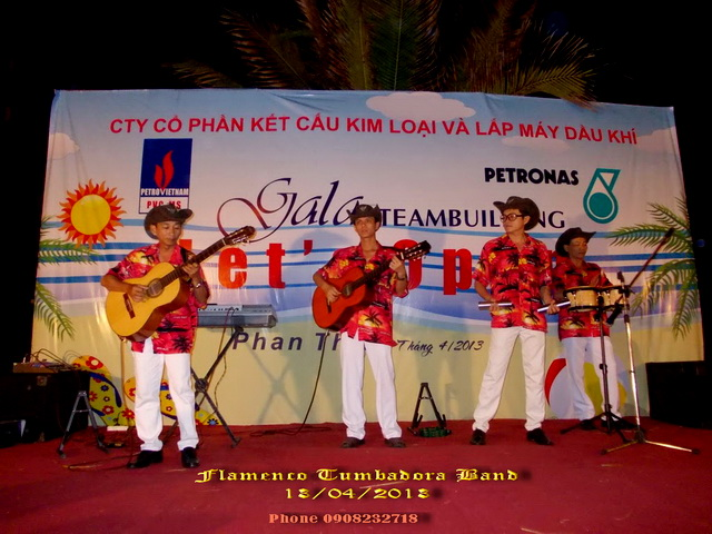 Ban Nhac Flamenco Tumbadora 13 04 2013 Petronas Gala Dinner Sea Lion Ke Ga Phan Thiet Resort
