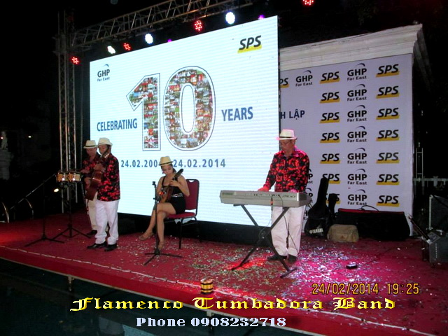 Flamenco Tumbadora Band 24 02 2014 SPS 10th Anniversary Silver Creeck Resort