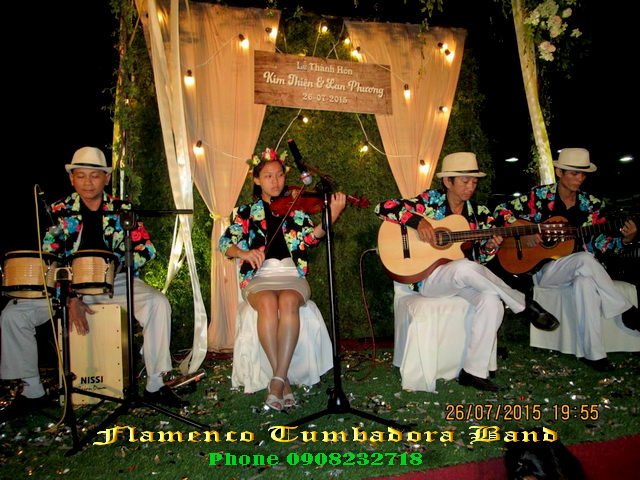Flamenco Tumbadora Band 26 07 2015 The Chateau Restaurant