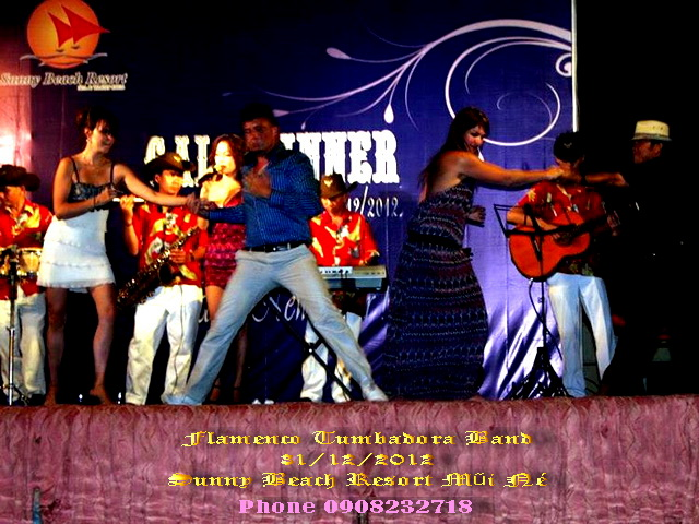 Flamenco Tumbadora Band 31 12 2012 Sunny Beach Mui Ne Resort Countdown Party
